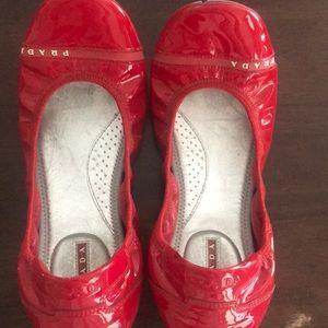 Prada ballet flats, Red, size 7.5)